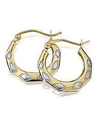 9 Carat Gold Creole Earrings