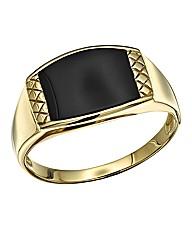 9 Carat Gold Onyx Ring