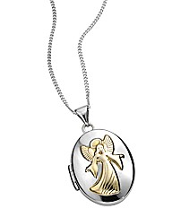 Sterling Silver and Gold-plated Locket