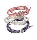 3 Wrap-around Pastel Colour Bracelets