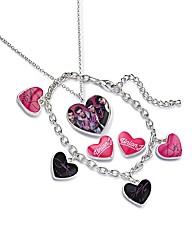 Union J Pendant, Bracelet & Earrings Set