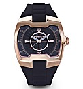 Police Rose gold Strap Gents Watch