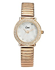 Limit Ladies Rose-tone Expander Watch