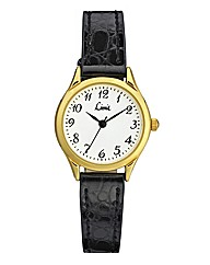 Limit His and Hers Gold-tone Black Strap