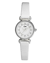 Limit Ladies White Slim Strap Date Watch