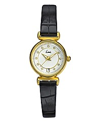 Limit Ladies Black Slim Strap Date Watch