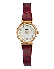 Limit Ladies Red Slim Strap Date Watch