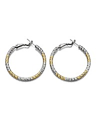 Fiorelli Two-tone Hoop Earrings