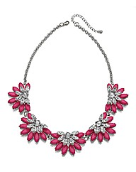 Large Pink Cluster Collar Necklace