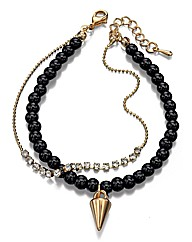 Fiorelli Black Beaded Bracelet