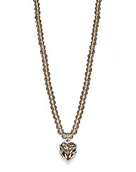 Fiorelli Beaded Heart Necklace