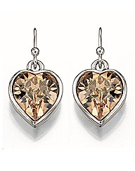 Fiorelli Beaded Heart Earrings
