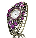 Ladies Purple Fancy Bangle Watch