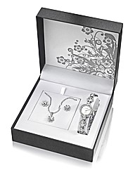 Watch, Pendant and Earrings Set.