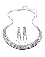 Glitzy Necklace & Earrings Set