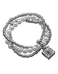 Trinity Faux Pearl Bracelet