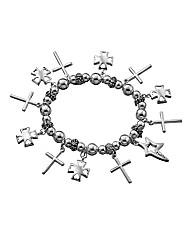 Twelve Crosses Charm Bracelet