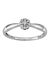 9 Carat 1/10th Carat Diamond Ring