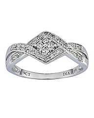 9 Carat White Gold Fancy Diamond Ring