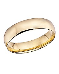 9ct Gold Mens Court Shape Wedding Band