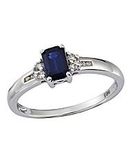 9ct Gold White Gold Gemstone Ring