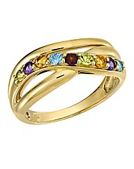 9 Carat Gold Multi Gemstone Ring
