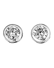 Diamonfire Round Stud Earrings