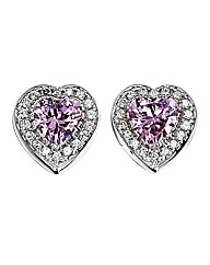 Diamonfire Heart Earrings