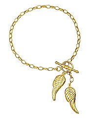 9 Carat Gold Angel Wings Bracelet