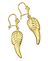 9 Carat Gold Angel Wings Earrings