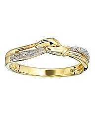 9 Carat Gold Diamond Set Footprints Ring