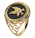 9 Carat Gold Eagle Onyx Ring