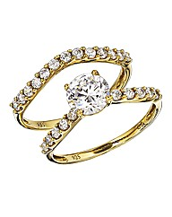 9 Carat Gold Cubic Zirconia Ring Set