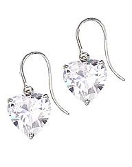 9 Carat Gold Heart Drop Earrings