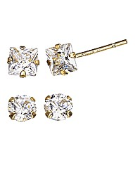 9ct Gold Cubic Zirconia Set of Earrings