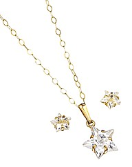 9 Carat Gold Earrings and Pendant Set