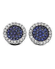 J-Jaz Round Pave Earrings