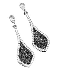 J-Jaz Sterling Silver Drop Earrings