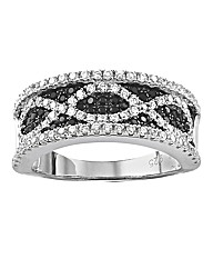 J-Jaz Black Cubic Zirconia Ring