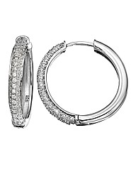 J-Jaz Sterling Silver Hoop Earrings
