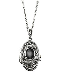 W.Hamond Marcasite Locket Pendant