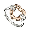 Hot Diamonds Vermeil Heart Ring
