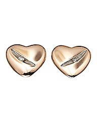 Hot Diamonds Heart Earrings