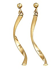 9 Carat Gold Twist Earrings