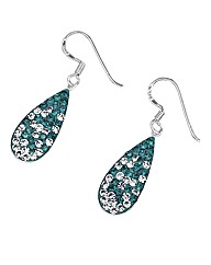 Crystal Glitz Silver Drop Earrings