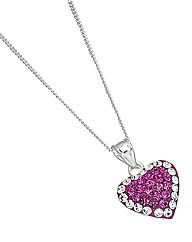 Crystal Glitz Sterling Silver Pendant