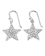 Crystal Glitz Silver Star Earrings