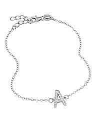 Sterling Silver & Zirconia Bracelet