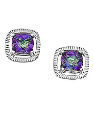 Sterling Silver and Mystic Topaz Earring