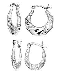 Set of Two Sterling Silver Earrings